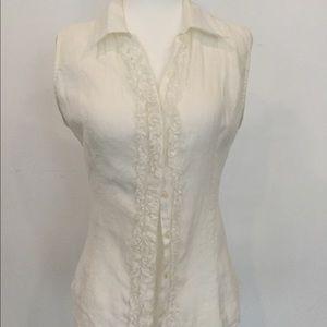 Anne Fontaine linen TUX shirt